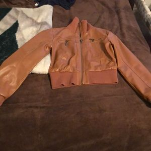 Other - Brown Leather Jacket